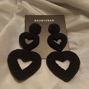 Baublebar beaded heart dangle earrings New on